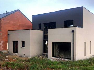 Maison individuelle toit plat monopente Bourgbarré